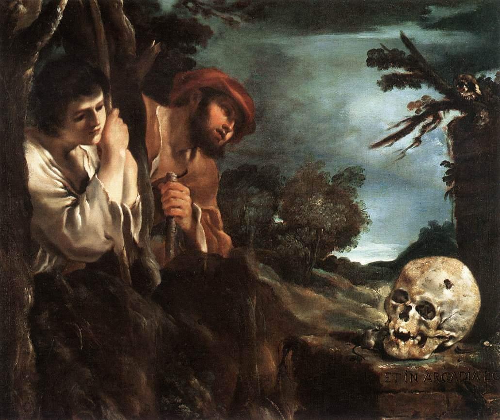 Guercino. Et in Arcadia ego.