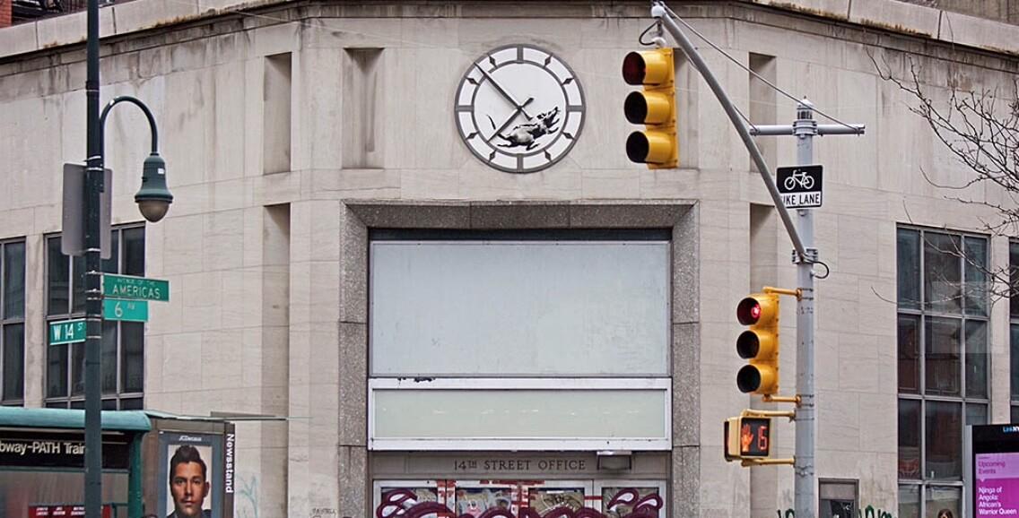 Banksy. A Rat in a Clock