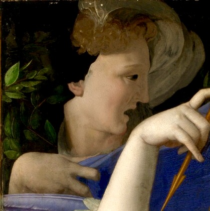 Bronzino. Allegory with Venus and Cupid. Fragment. 1545. National Gallery of London