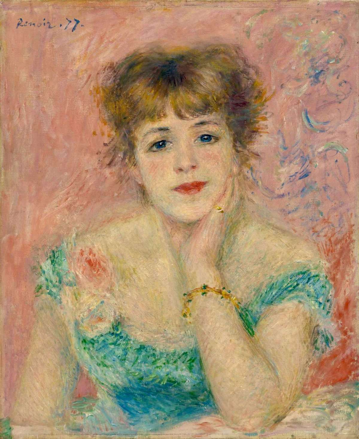 Renoir. Portrait of Jeanne Samari