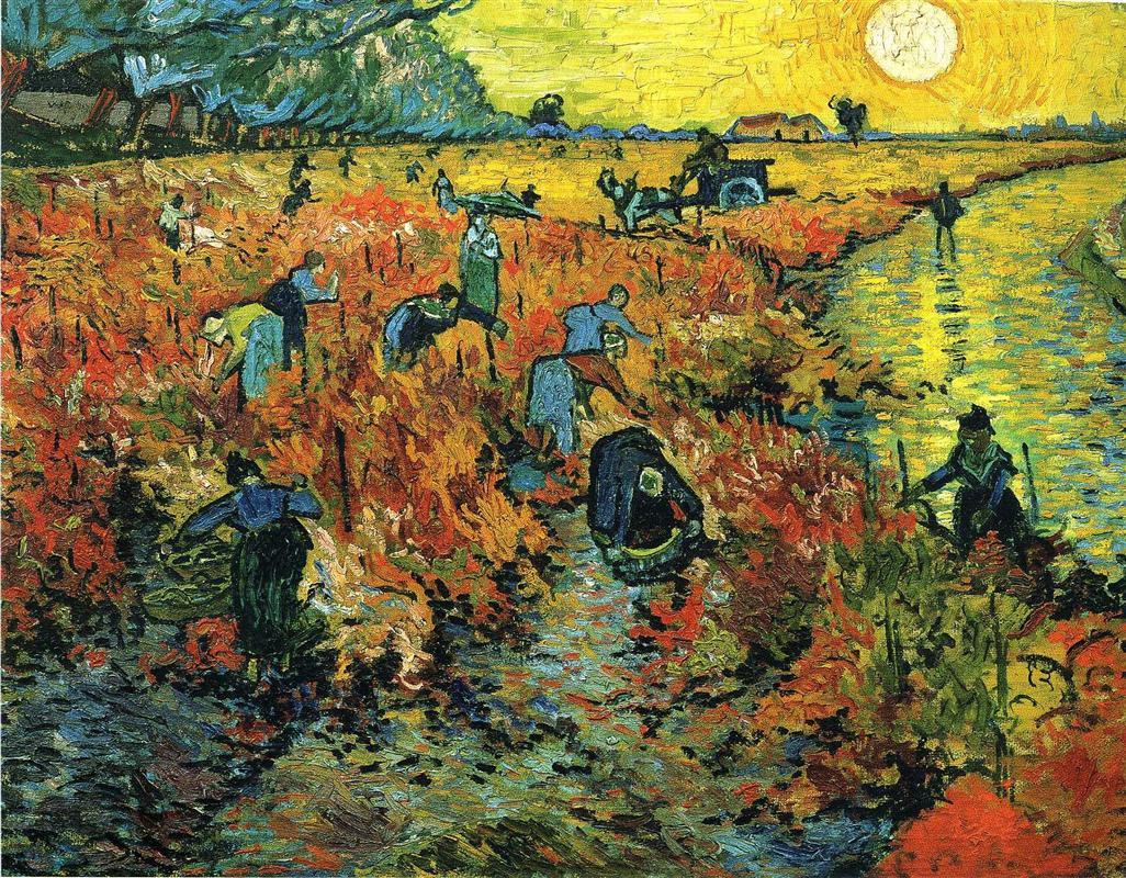 Vincent van Gogh. Red vineyards in Arles