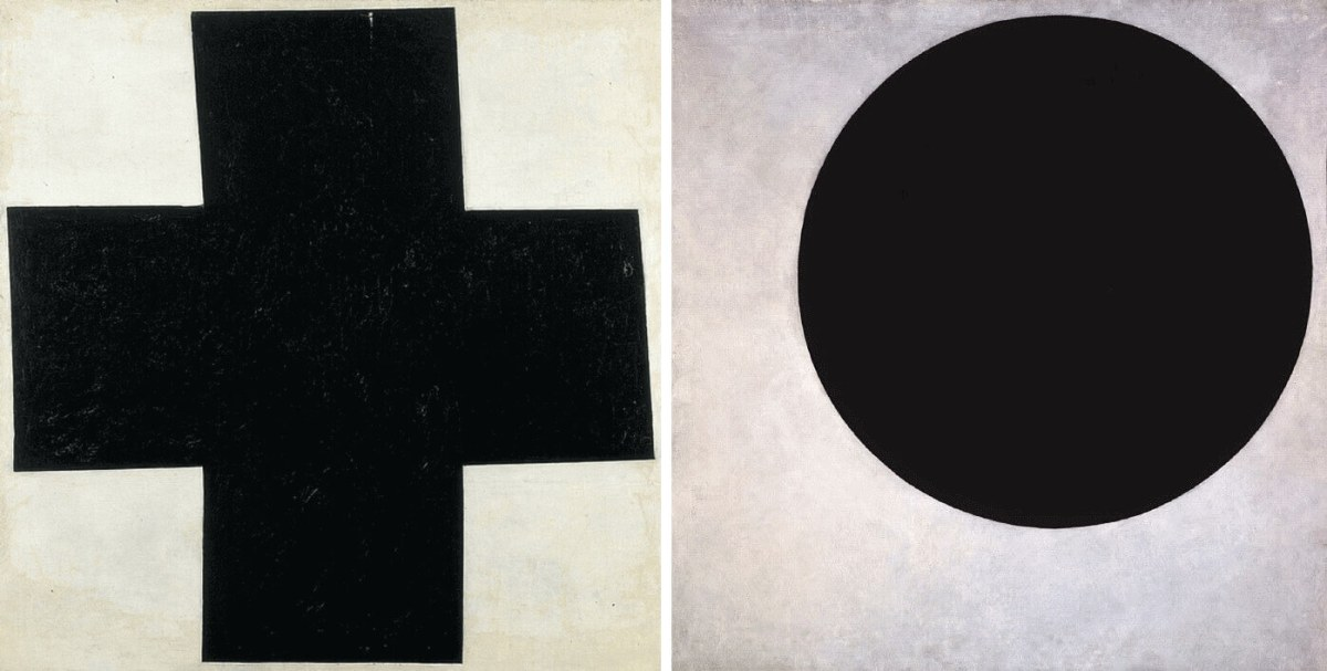 Malevich. Black Cross and Black Circle
