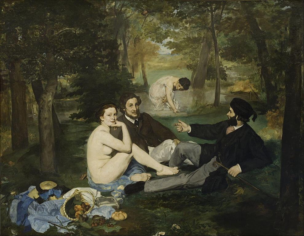 Manet. Breakfast on the grass.