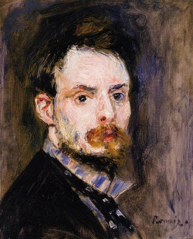 Renoir self portrait 1875