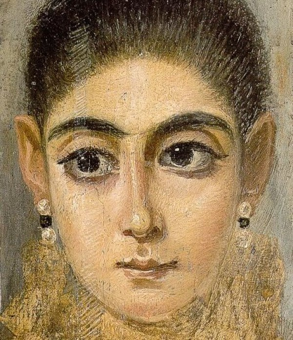 Fayum portrait of a young woman. Louvre