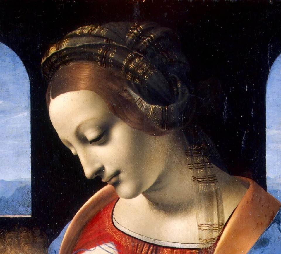 Leonardo da Vinci. Madonna Litta.