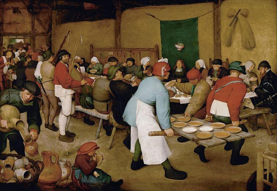 Bruegel. Peasant wedding.