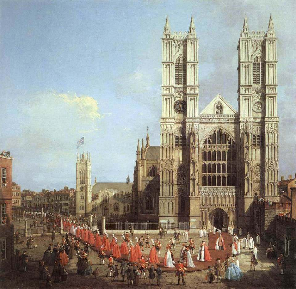 Canaletto. Westminster Abbey.