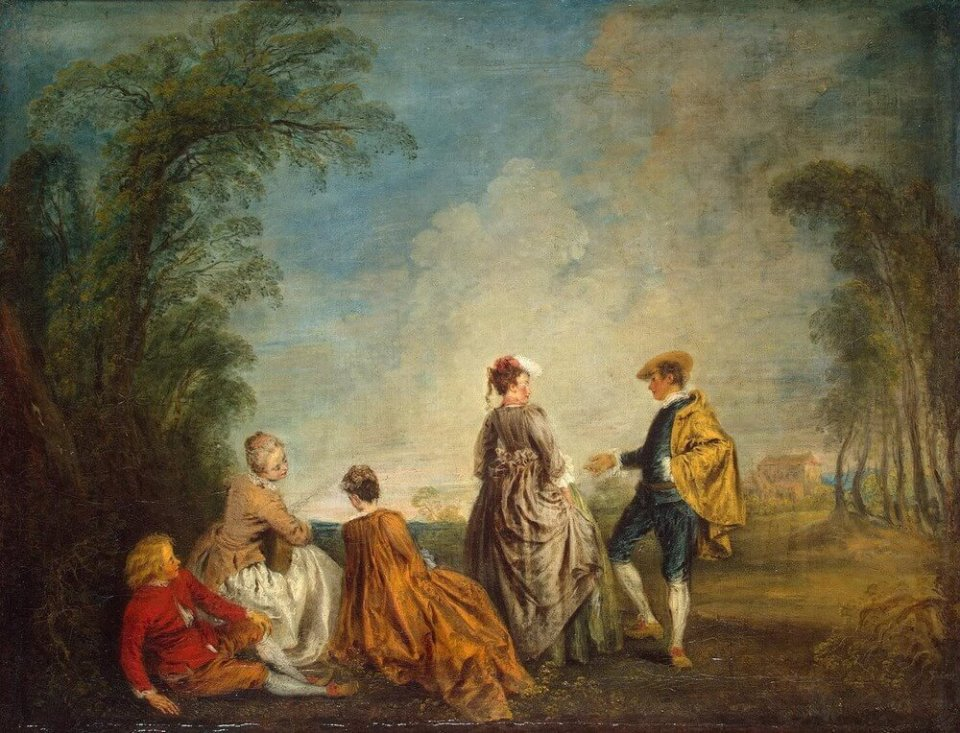 Jean-Antoine Watteau. The predicament.