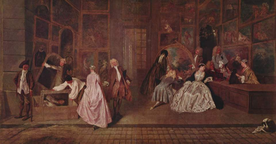 Jean-Antoine Watteau. Sign of the Gersen shop.