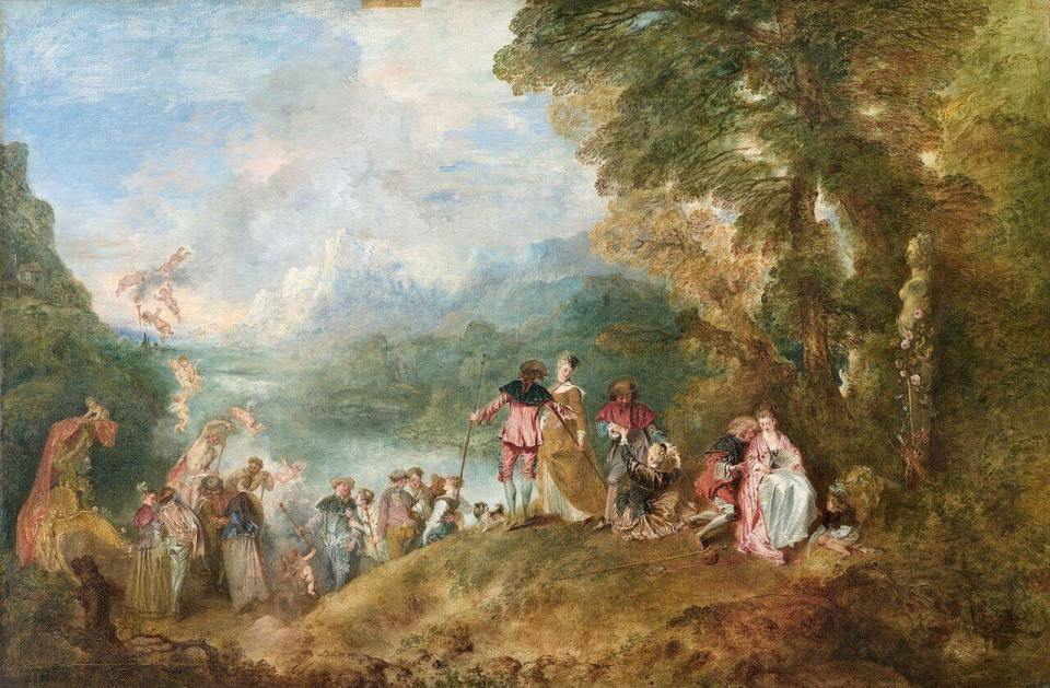Antoine Watteau. Pilgrimage to the island of Kieferu.