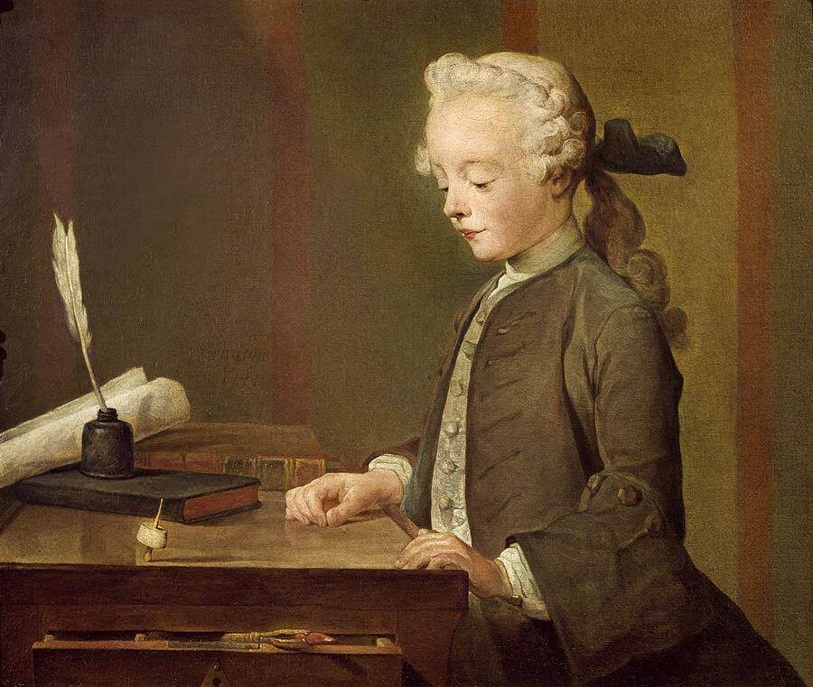 Jean-Baptiste Chardin. Boy with a yule.
