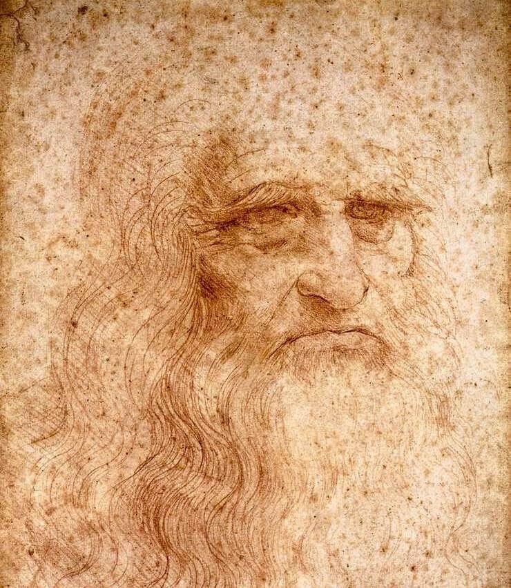 Leonardo da Vinci. Self-portrait.