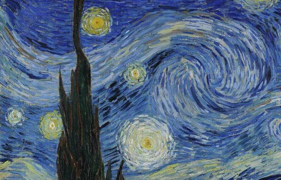 Vincent Van Gogh. Starlight Night. Fragment.