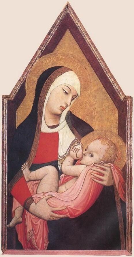 Ambrogio Lorenzetti. Madonna Lactans.