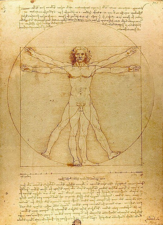 Leonardo da Vinci. Vitruvian Man.