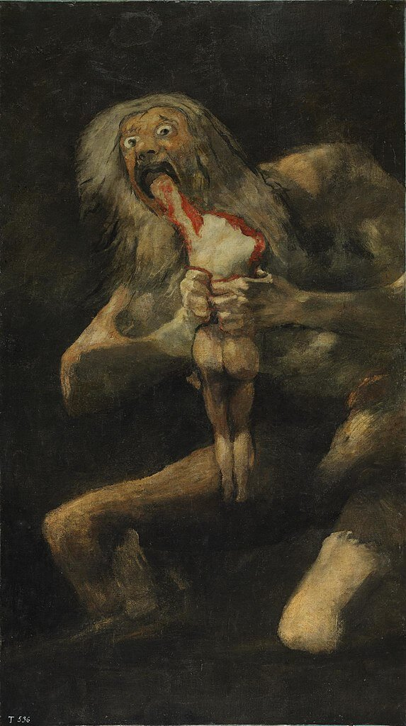 Francisco Goya. Saturn Devouring his Son.
