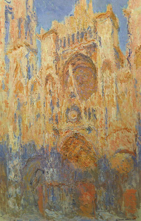 Claude Monet. Rouen Cathedral. Sunset.