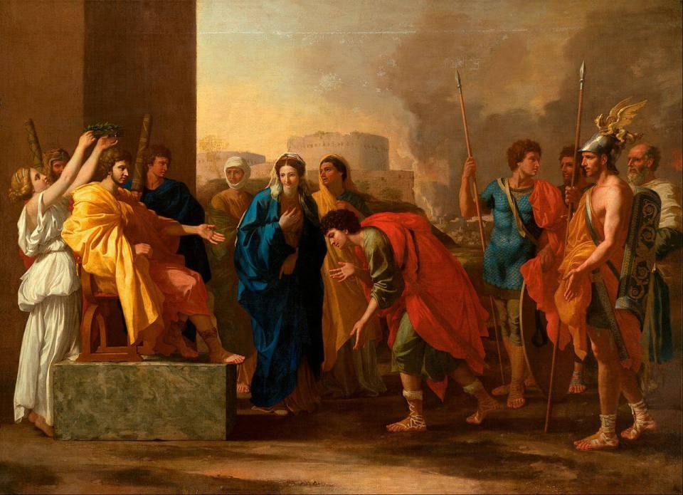 Nicola Poussin. Continence of Scipio.