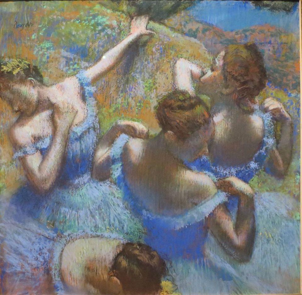Edgar Degas. Blue dancers.
