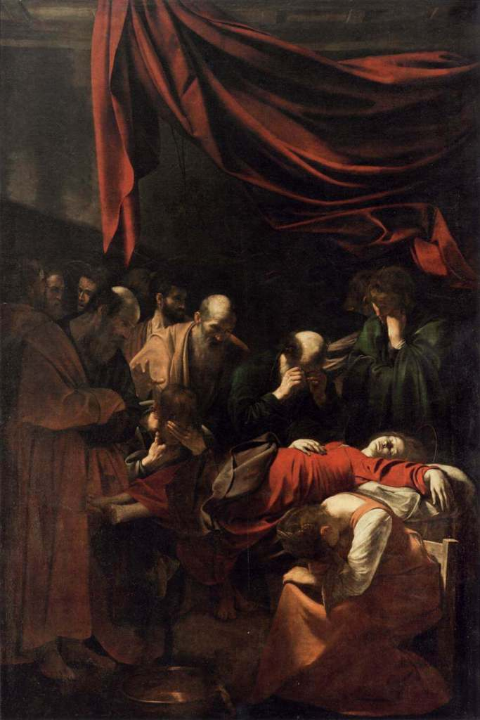 Caravaggio. Death of Virgin.