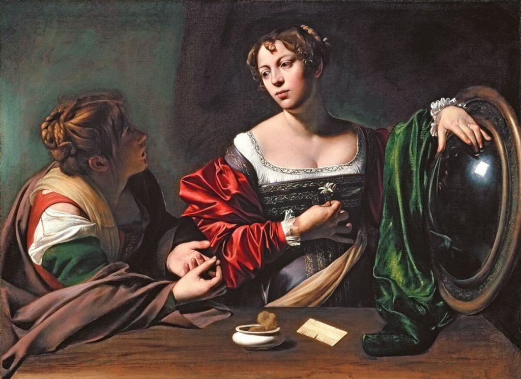 Caravaggio. Martha and Mary Magdalene.