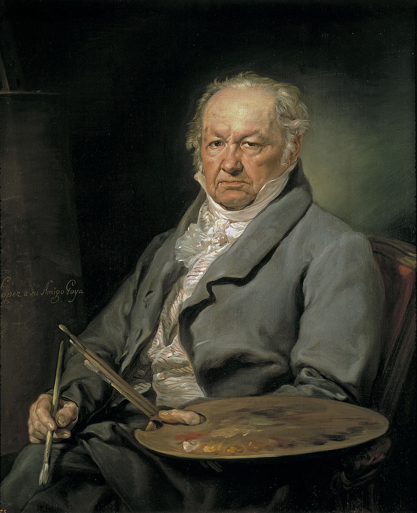 Vicente Lopez Portany. Portrait of Francisco Goya.