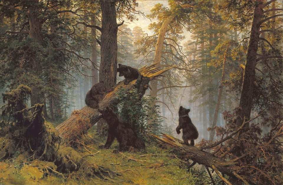 Ivan Shishkin. Morning in a pine forest.