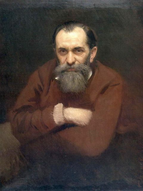 Ivan Kramskoy. The portrait of Vasily Perov.