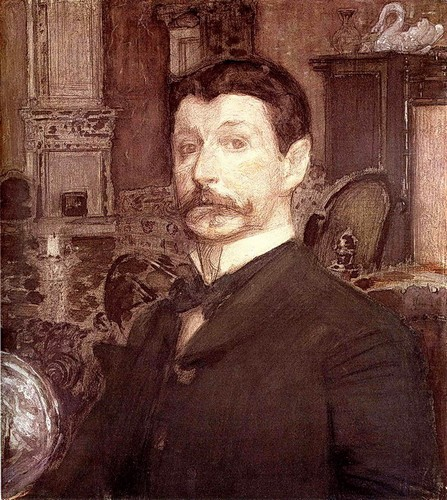 Mikhail Vrubel. Self-portrait with a pearl shell.