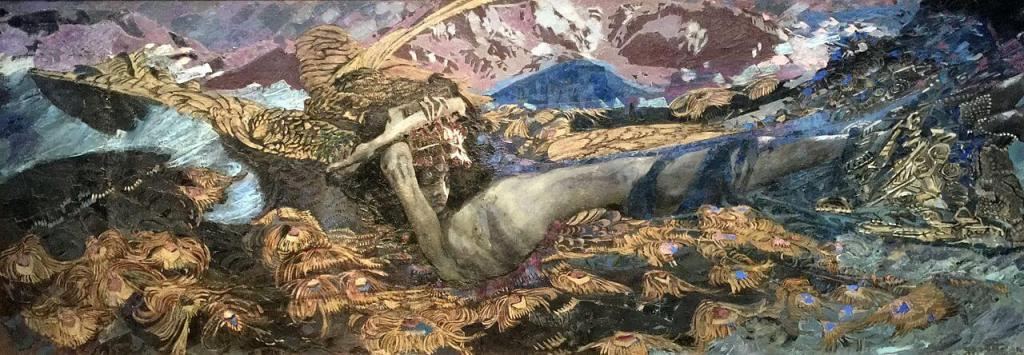 Mikhail Vrubel. The Demon Defeated.