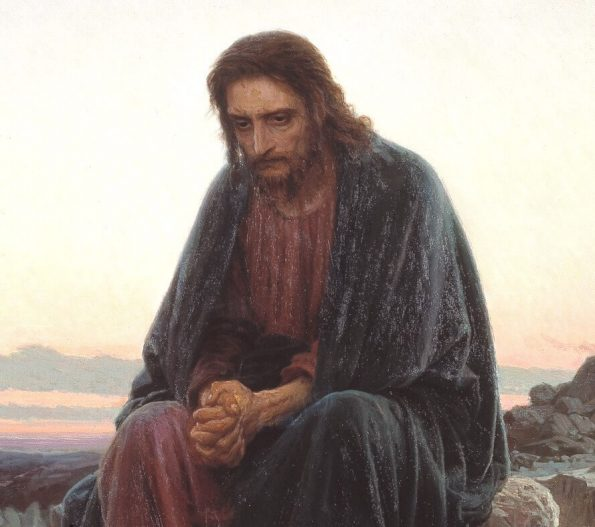 Ivan Kramskoy. Christ in the Desert (detail).