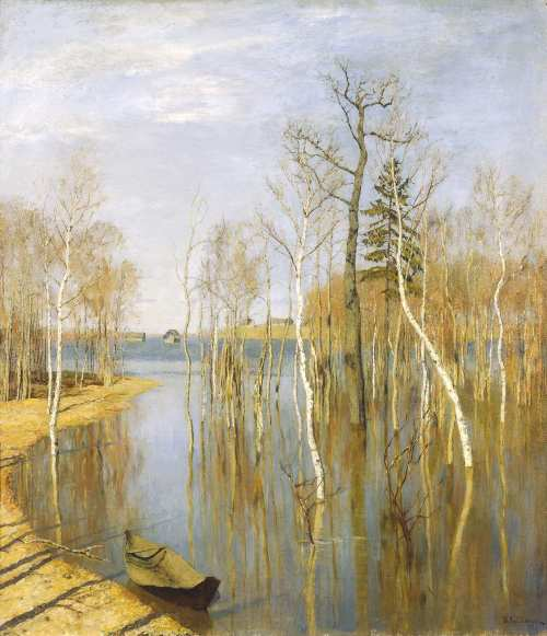 Isaak Levitan. The spring – high water.
