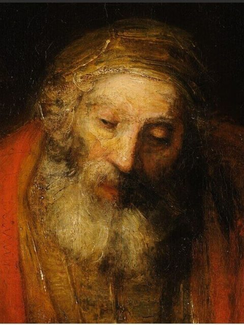 Rembrandt. Return of the Prodigal Son. Fragment.