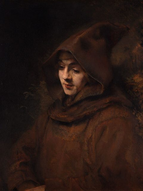 Rembrandt. Titus as a monk.