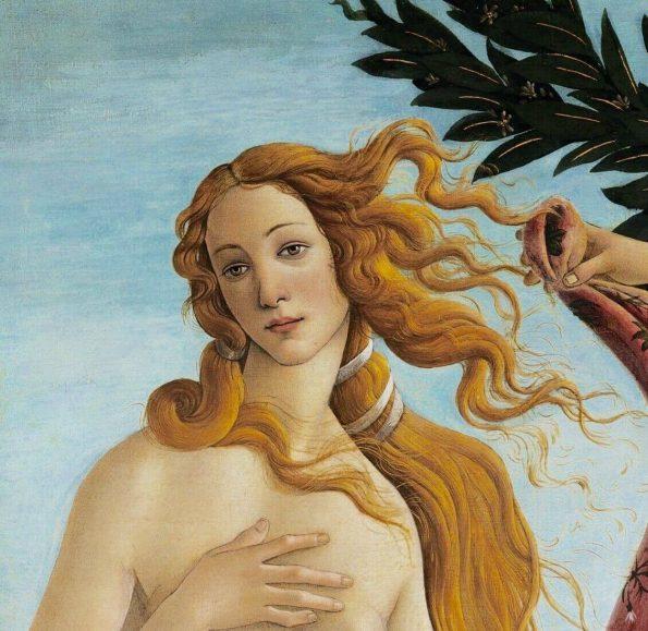 Sandro Botticelli. The Birthof Venus. Fragment.