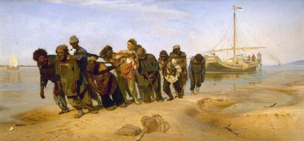 Ivan Repin. Barge-Haulers on the Volga.