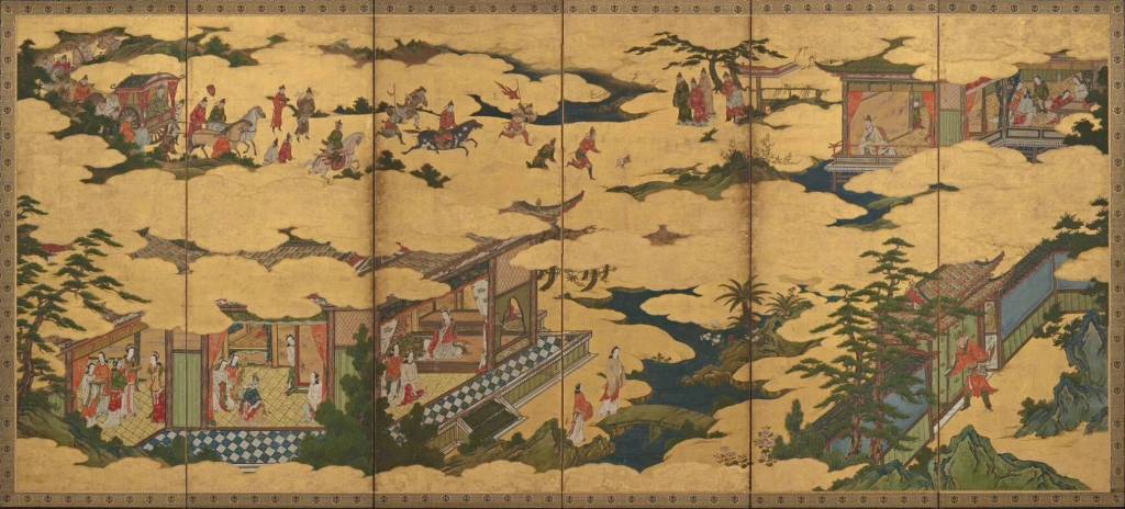 Mitsunobu. Scenes from the life of Emperor Ming Huang