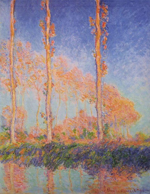 Monet. Poplars