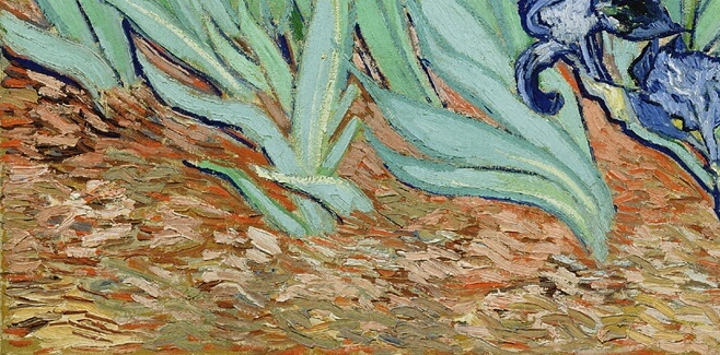 Van Gogh. Irises (detail)