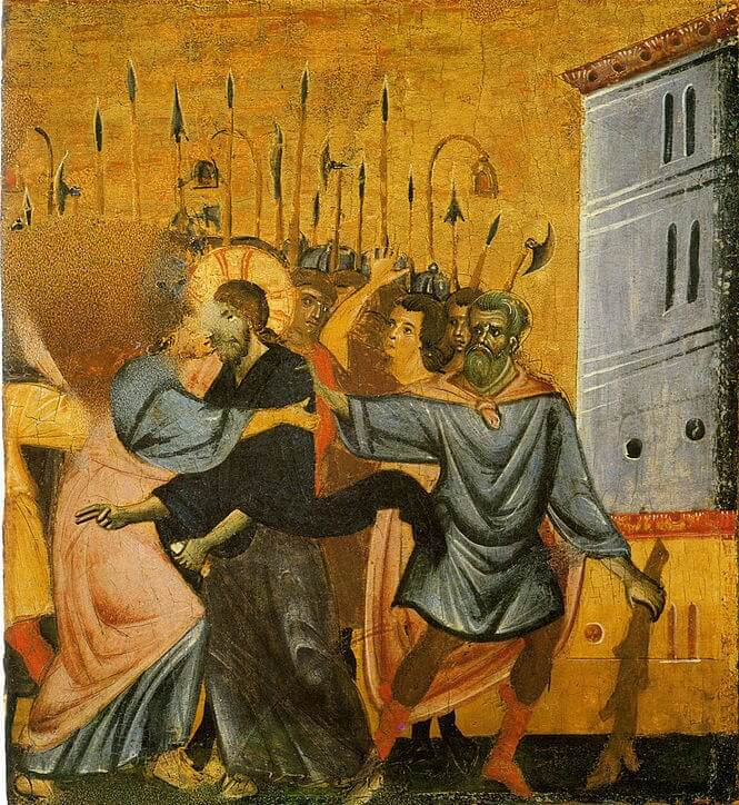 Guido da Siena. Kiss of Judas.
