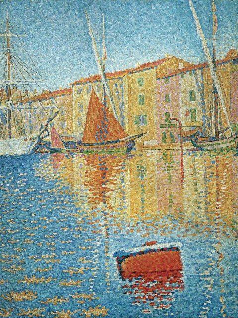 Paul Signac. Red buoy.