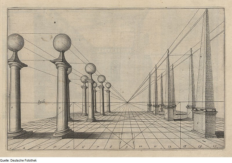 """Hans Vredemann de Vries. Drawing from the book """"Perspective"""""""