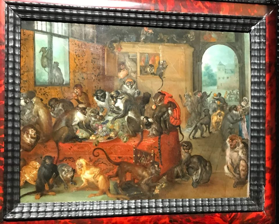 Jan Brueghel the Elder. Monkey feast. 1621. Mauerhaus collection. Photo from the personal archive.