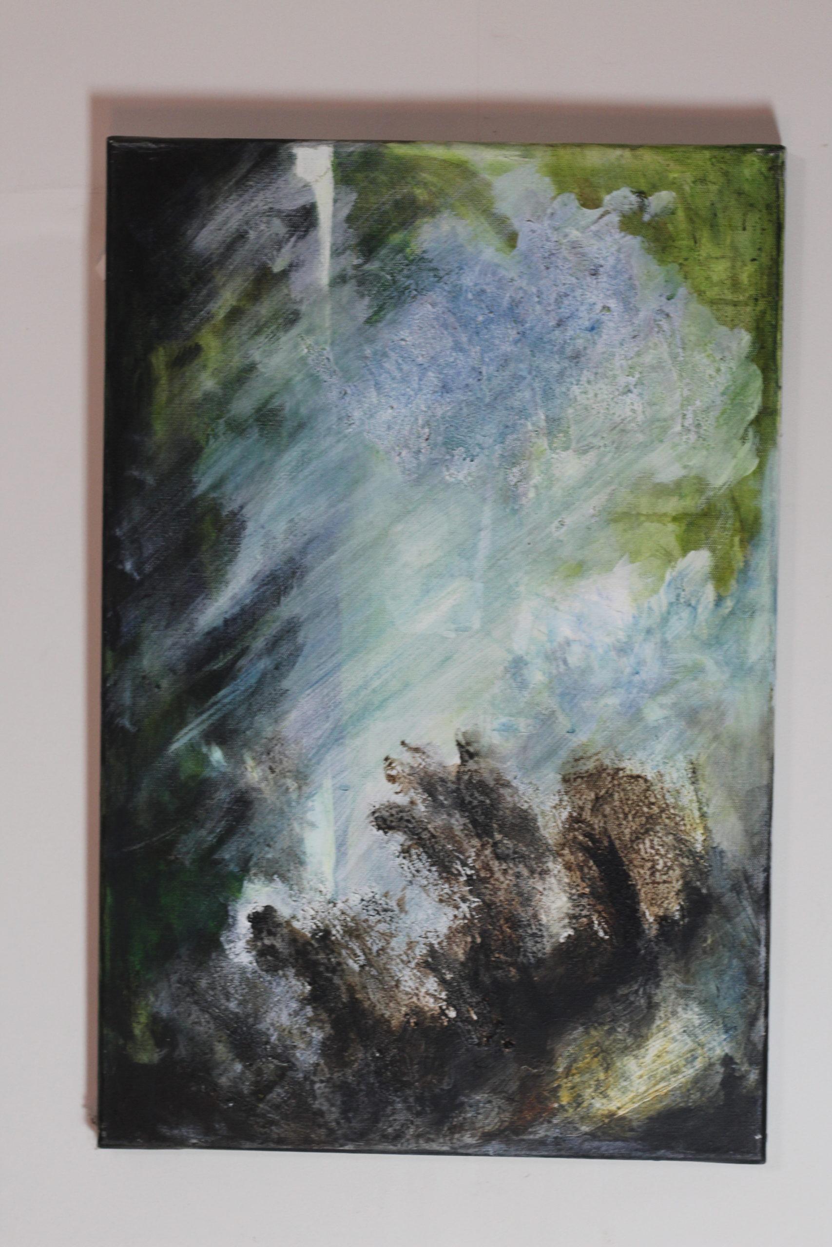 Peinture : Bruits de vagues (Véronique Fuchs-Sublon) - 40x60