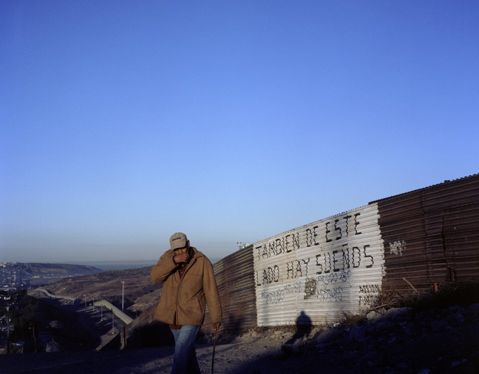 Cerco fronterizo entre México y USA, colonia Libertad, Tijuana, BC.