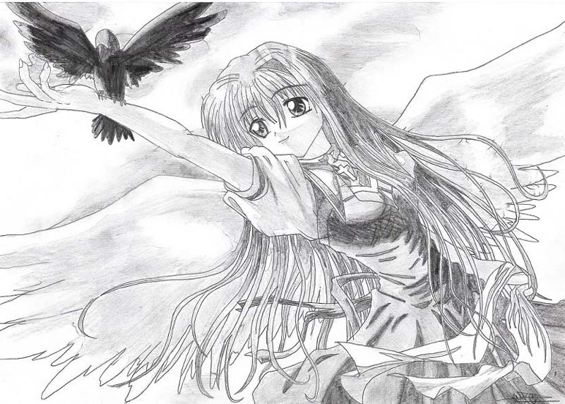 arts web group galerie manga fille noir