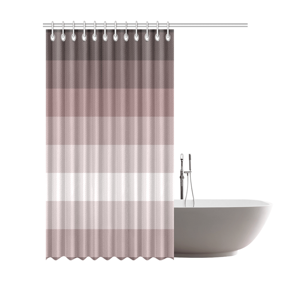 grey multicolored stripes shower curtain 72 x84 id d2398723