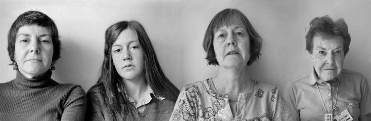 Sandra Matthews, MARGARET AND JENNIFER IN 1973/JENNIFER AND MARGARET IN 2013 (2017), photographic collage/ inkjet print