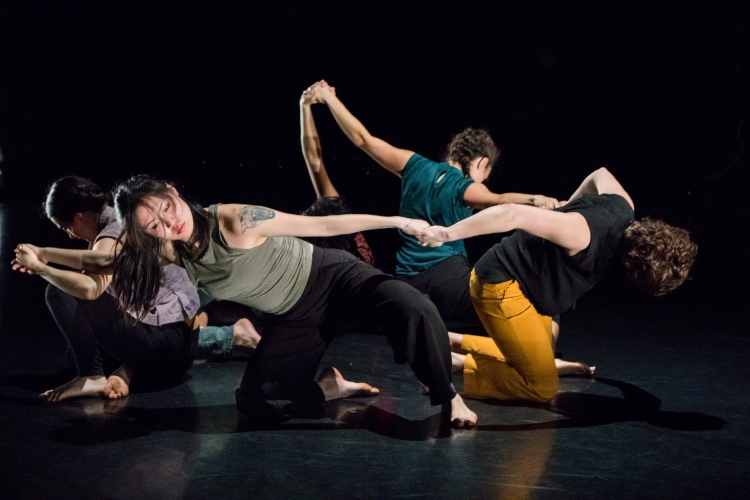 Still image from SOCIAL ANIMAL PLEASE TAME ME, choreography by Lailye Weidman (Choreography Fellow '18), photo by Natalie Fiol